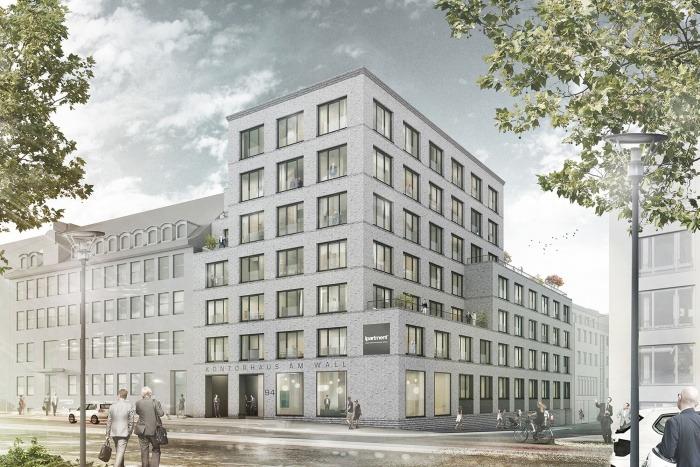 Bauantrag Kontorhaus Am Wall