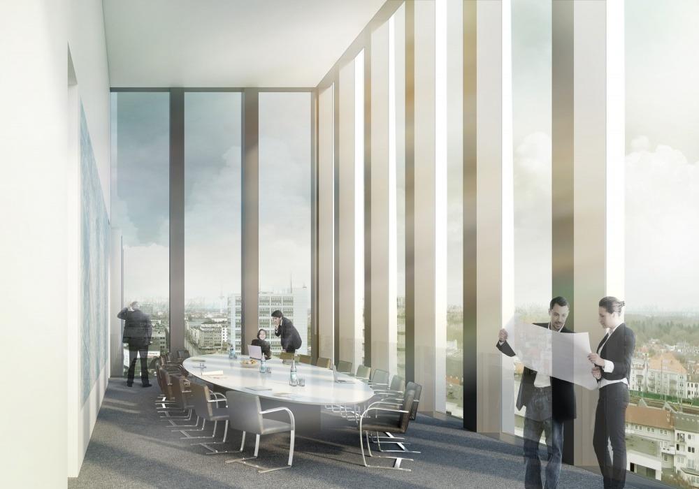 GEWOBA Hochhaus Bremen 03 Visualisierung Konferenzraum