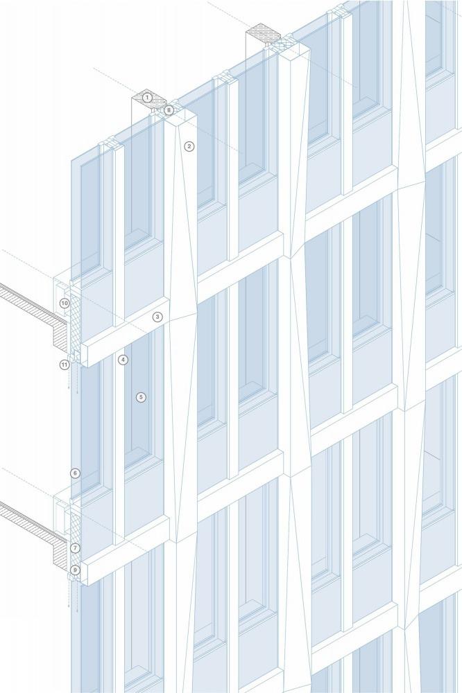 GEWOBA Hochhaus Bremen 05 Elementfassade_000001