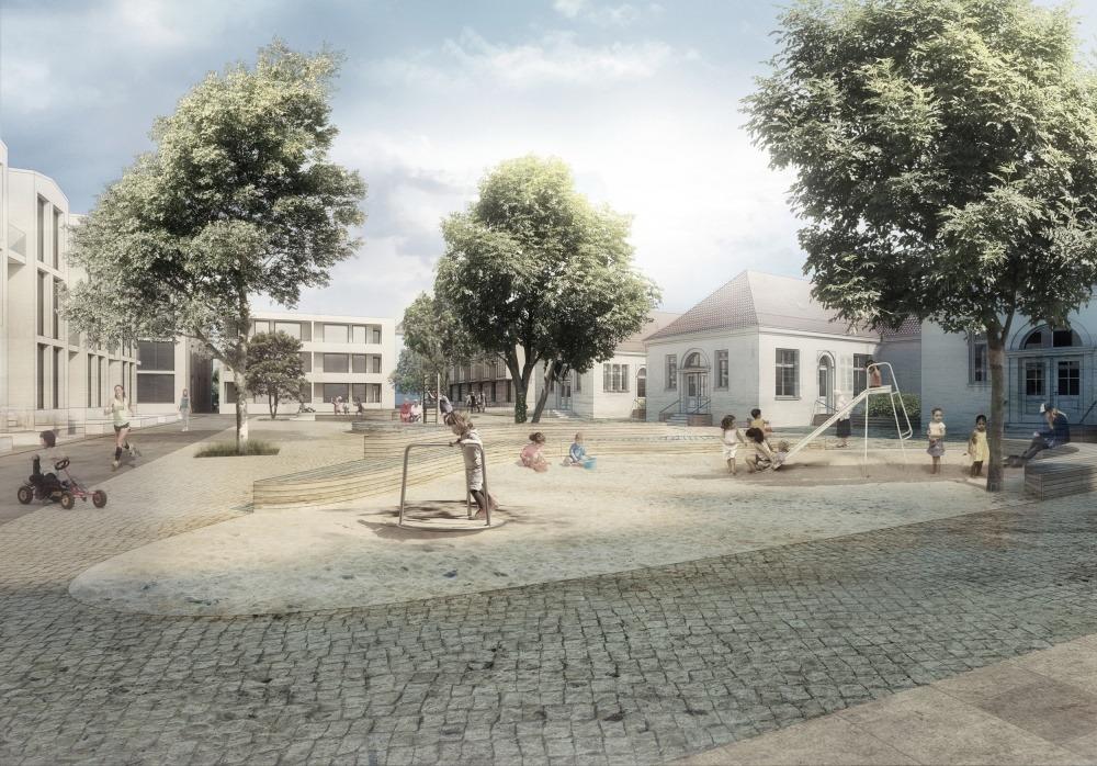 Neues Hulsbergviertel 04 Platz der Generationen