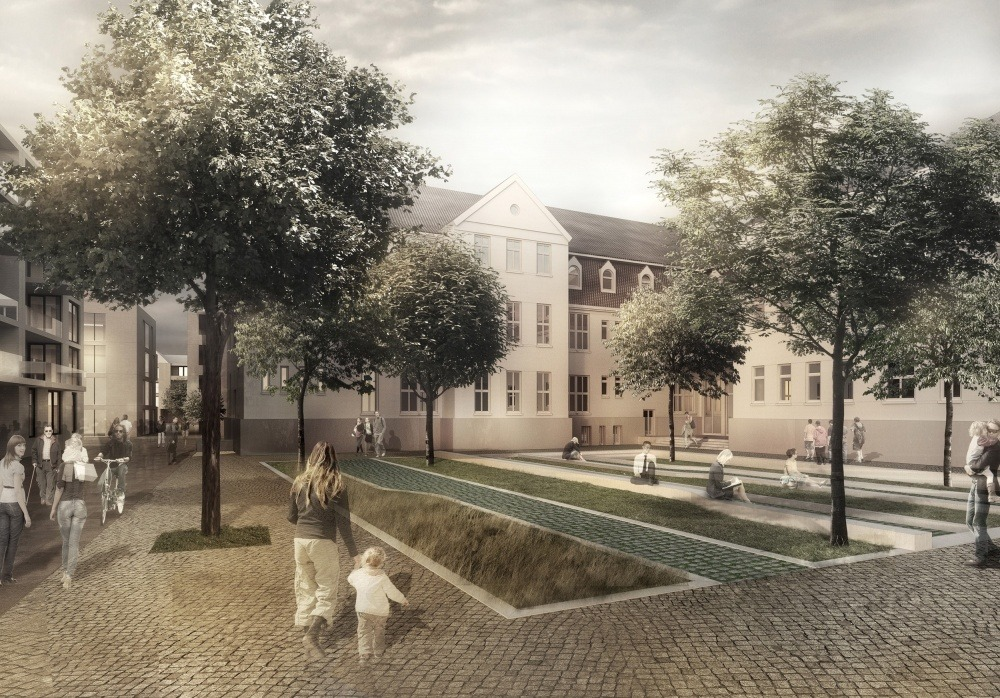 Neues Hulsbergviertel 05 Hofgarten