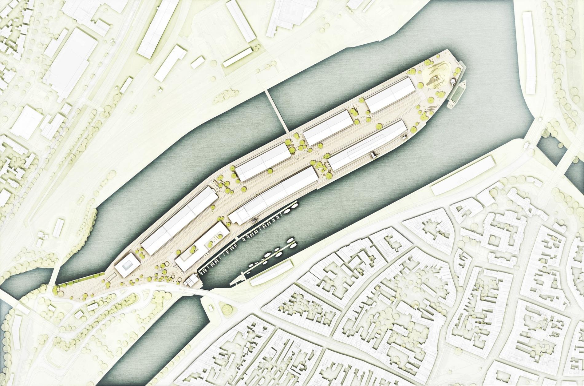 Nördliche Wallhalbinsel Lübeck 02 Lageplan