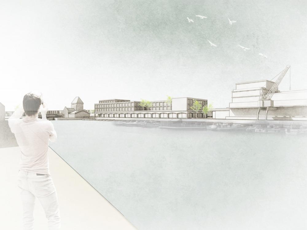 Perspektive Hotel Ufer _ Automatischer Wiederaufbau (Modell)