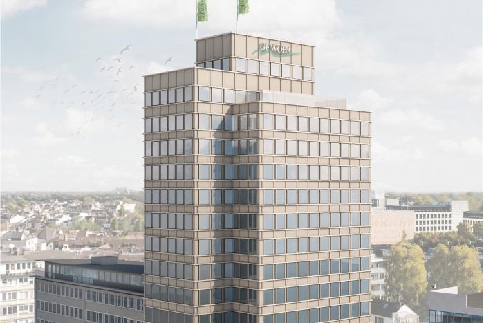 Baustart Umbau GEWOBA-Hochhaus