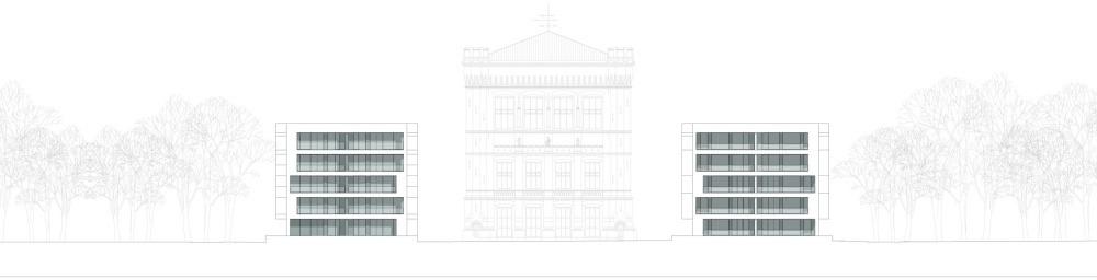 Wohnungsbau Stadtwerder Zeichnung Ansicht Kleine Weser