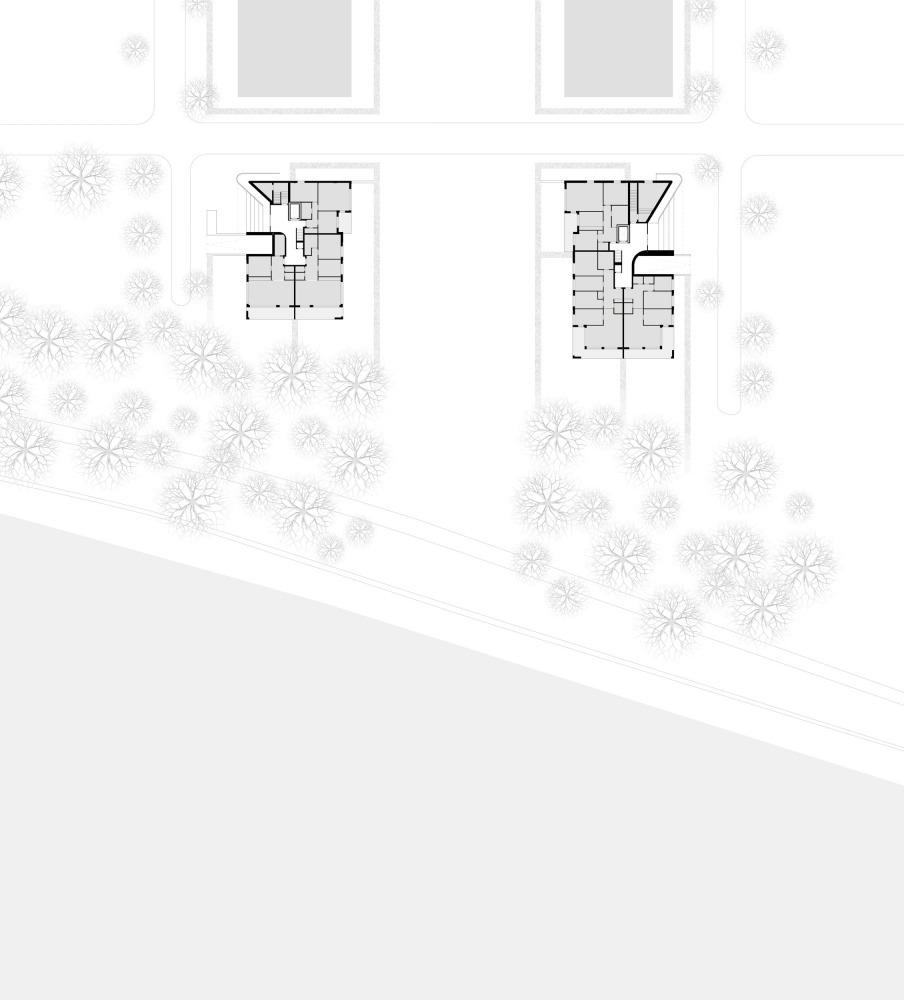 Wohnungsbau Stadtwerder Zeichnung Grundriss Erdgeschoß