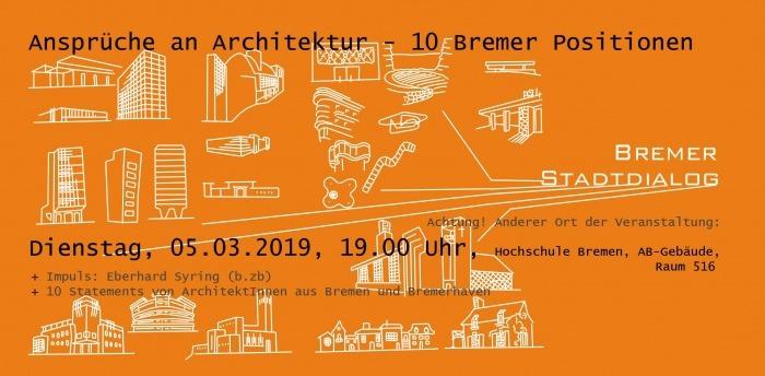 """""""Ansprüche an Architektur – 10 Bremer Positionen"""""""